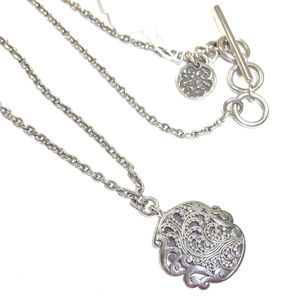 Lois Hill Sterling Silver Granulated Necklace